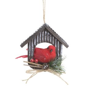 Decoratiune suspendabila Bird House Red