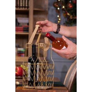 Elam Suport sticle cu manere, Metal, Auriu