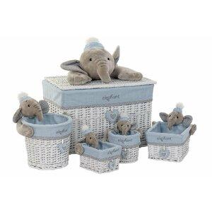 Elephant Set 5 cosuri, Lemn, Albastru