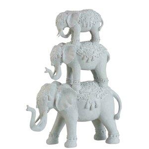 Elephants Decoratiune, Polirasina, Alb