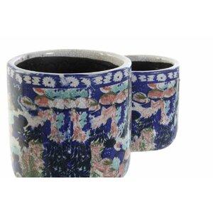 Emre Set 2 suporturi ghiveci, Teracota, Multicolor
