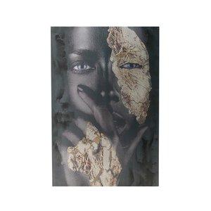 Emyly Tablou Femeie, Canvas, Multicolor