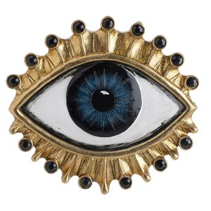 Eye Decoratiune perete ochi, Polirasina, Auriu