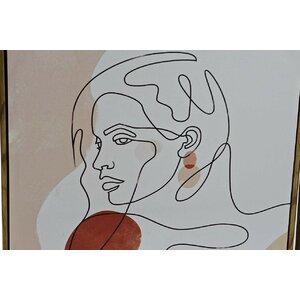 Face Tablou, Canvas, Bej