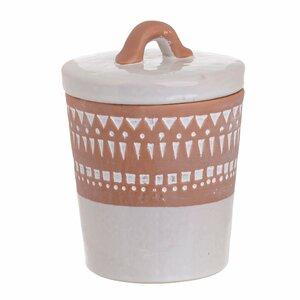 Finn Borcan mare cu capac, Ceramica, Alb