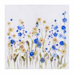 Flowers tablou, Canvas, Multicolor