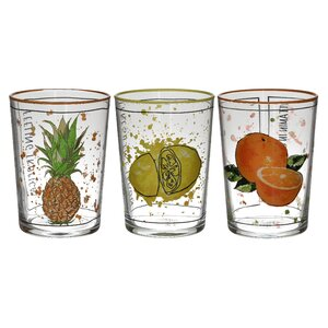 Fruto Set 6 pahare, Sticla, Transparent