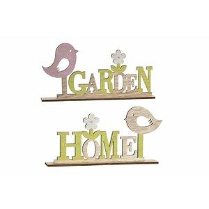 Garden Set 2 decoratiuni, Lemn, Bej