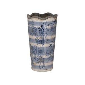 Georgia Vaza mica, Ceramica, Albastru