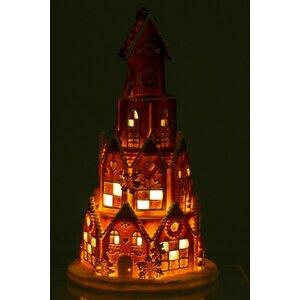 Ginger Decoratiune luminoasa casa, Polirasina, Maro