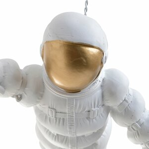 High Decoratiune suspendabila astronaut, Polirasina, Alb