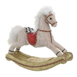 Horse Decoratiune cal, Textil, Bej
