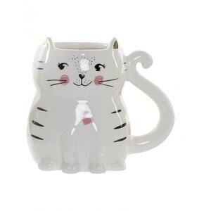 Idris Cana 3D pisica, Ceramica, Alb