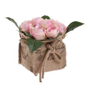 Inah Floare artificiala ghiveci, Plastic, Roz