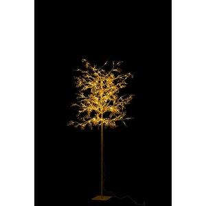 Jacob Copac artificial mediu cu LED, Metal, Auriu