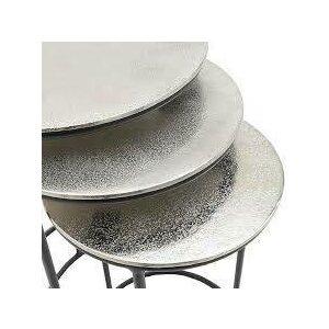Jonas Set 3 Masute, Aluminiu, Argintiu