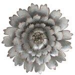 Jyni Decoratiune perete floare, Metal, Argintiu