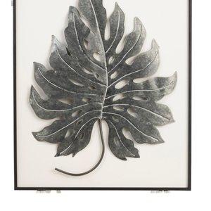 Leaf Decoratiune perete, Metal, Negru