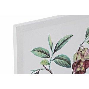 Leith Set 4 tablouri, Canvas, Verde