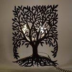 Life Decoratiune luminoasa copac, Metal, Bej
