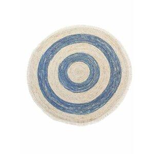 Luigi Covor rotund, Textil, Albastru
