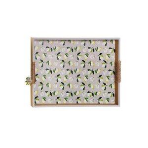 Magnolia Tava servire cu manere, MDF, Multicolor