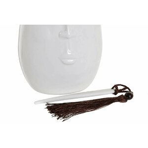 Maisie Vaza inalta, Ceramica, Alb