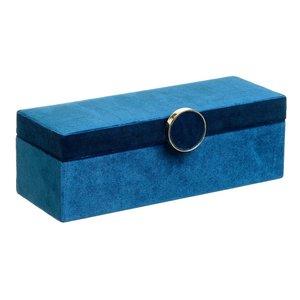 Mary Cutie bijuterii mare, Catifea, Albastru