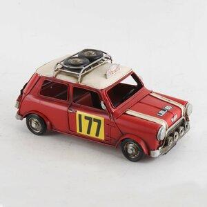 Mini Decoratiune miniatura masina, Metal, Rosu