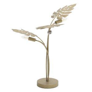 Palm Veioza frunze, Metal, Auriu