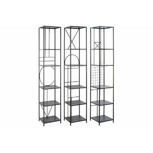 Phillipa Set 3 etajere, Metal, Negru