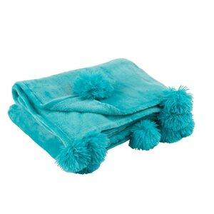 Pompom Pled, Textil, Albastru