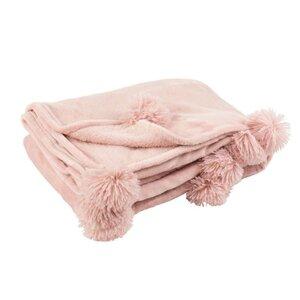 Pompom Pled, Textil, Roz