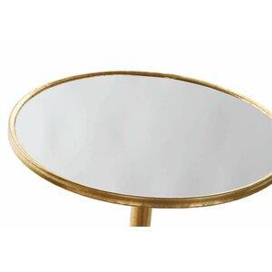 Porf Masuta rotunda, Metal, Auriu