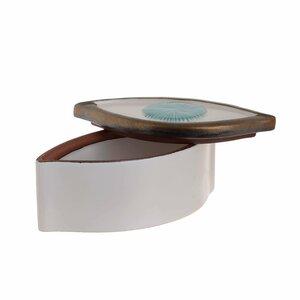 Prala Cutie depozitare ochi, Ceramica, Alb