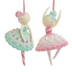 Princess Set 2 decoratiuni suspendabile balet, Polirasina, Multicolor
