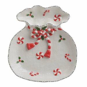 Relief Platou servire, Ceramica, Alb