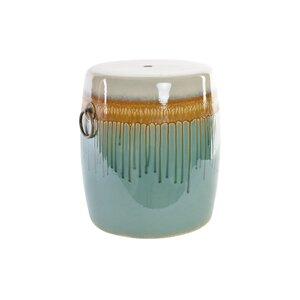 Reto Taburet decorativ, Ceramica, Albastru