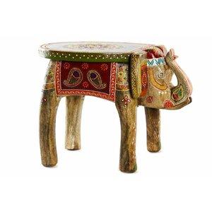 Rhid Masuta elefant, Lemn, Multicolor