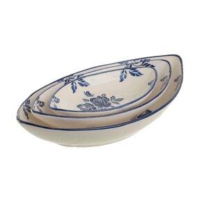 Rimma Set 3 platouri, Ceramica, Alb