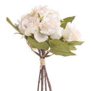 Rose Floare artificiala, Plastic, Alb