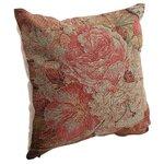 Roses Perna decorativa, Textil, Rosu