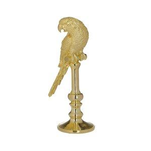 Selly Decoratiune papagal, Polirasina, Auriu