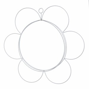 Shape Decoratiune perete floare, Metal, Alb