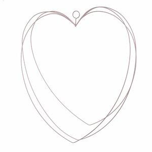Shape Decoratiune perete inima, Metal, Roz