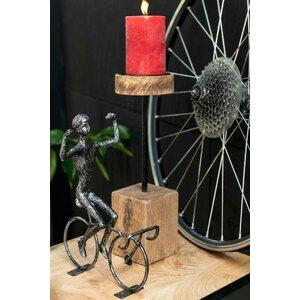 Shelly Decoratiune ciclist mare, Fier, Negru