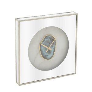 Slice Ceas perete, Sticla, Argintiu