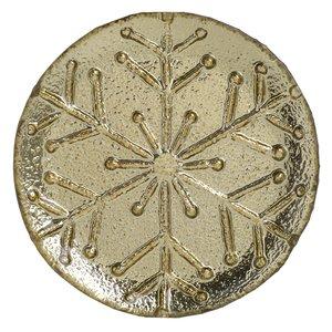Snowflake Set 6 farfurii, Sticla, Auriu