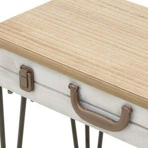 Suitcase Consola, Fier, Alb