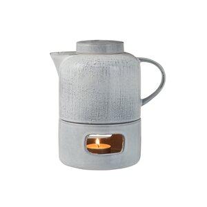 Tea Ceainic cu lumanare, Ceramica, Gri